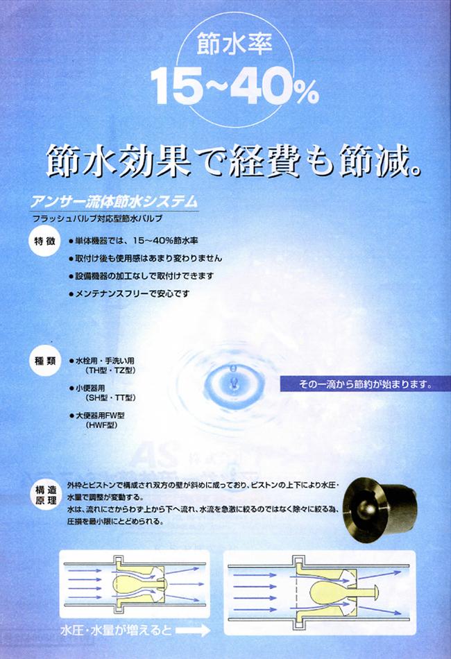アンサー流体節水システム